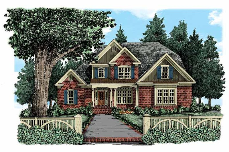 Country Exterior - Front Elevation Plan #927-341