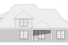 Country Exterior - Rear Elevation Plan #932-102
