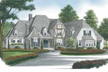 European Exterior - Front Elevation Plan #453-593