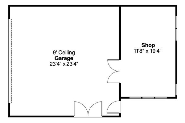 Craftsman Floor Plan - Main Floor Plan Plan #124-1093