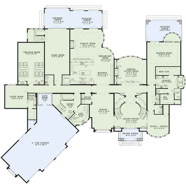 European Floor Plan - Main Floor Plan Plan #17-3401