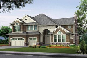 Architectural House Design - Craftsman Exterior - Front Elevation Plan #132-350