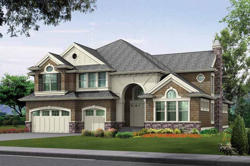 Dream House Plan - Craftsman Exterior - Front Elevation Plan #132-350