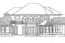European Exterior - Rear Elevation Plan #1007-2