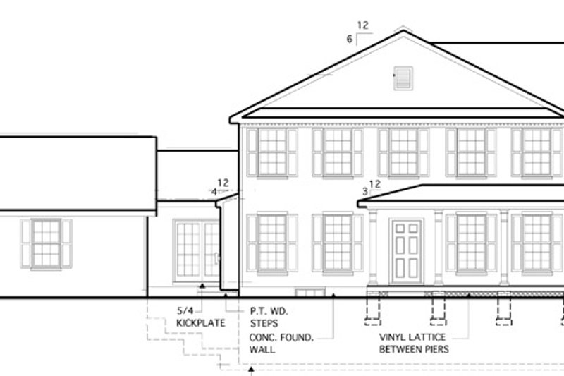 Traditional Exterior - Other Elevation Plan #1053-53 - Houseplans.com