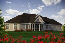 Dream House Plan - Traditional Exterior - Rear Elevation Plan #70-1183
