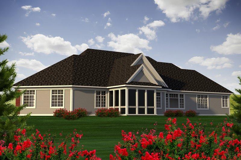 Traditional Exterior - Rear Elevation Plan #70-1183 - Houseplans.com