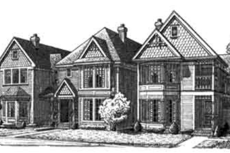 Victorian Exterior - Front Elevation Plan #410-336