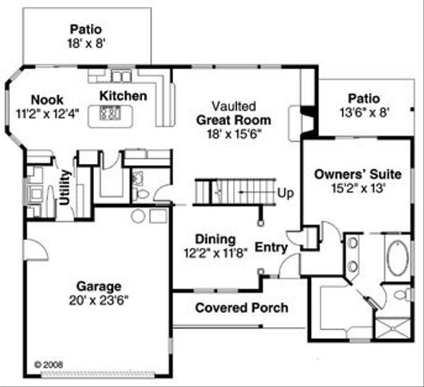 Traditional Floor Plan - Main Floor Plan Plan #124-767