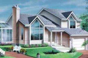 Modern Exterior - Front Elevation Plan #25-365