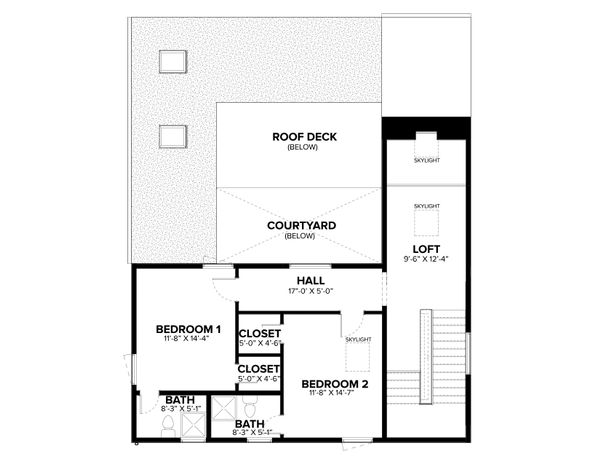 Modern Floor Plan - Other Floor Plan Plan #1076-2