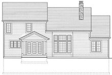 Colonial Exterior - Rear Elevation Plan #46-275