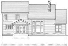 Dream House Plan - Colonial Exterior - Rear Elevation Plan #46-275