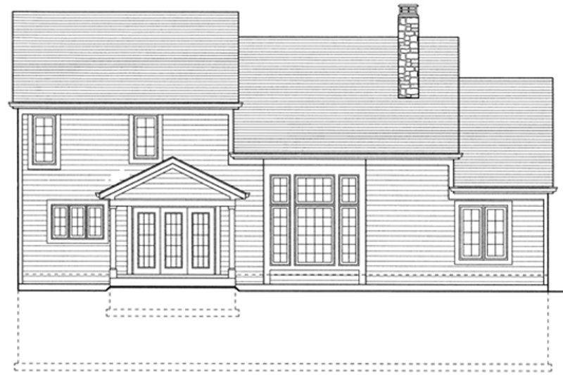 Colonial Exterior - Rear Elevation Plan #46-275 - Houseplans.com