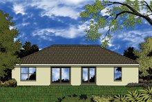 House Plan Design - European Exterior - Rear Elevation Plan #417-825