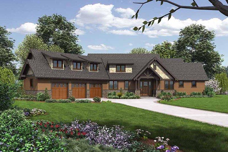Dream House Plan - Craftsman Exterior - Front Elevation Plan #48-921
