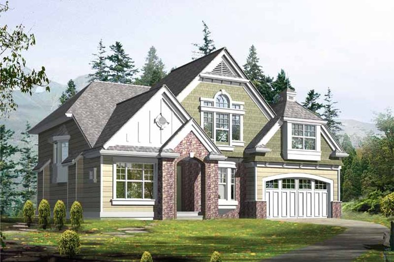 Country Exterior - Front Elevation Plan #132-308