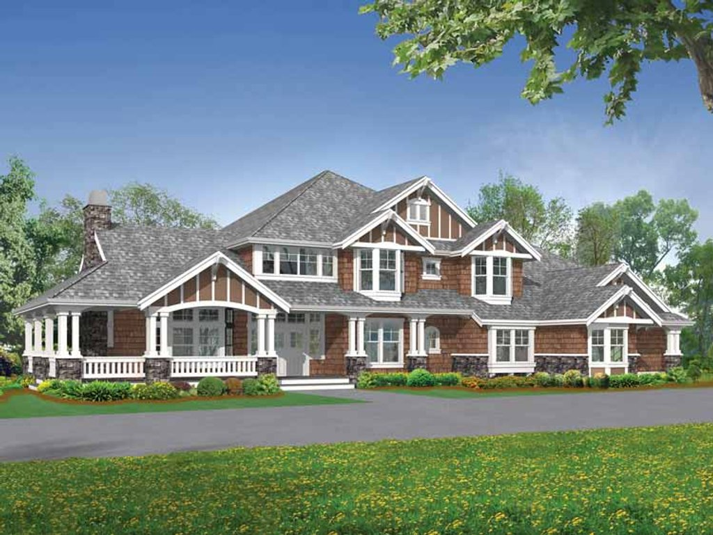 Craftsman style house plan 5 beds 4 5 baths 5250 sq ft for Www eplans com