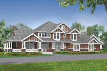 Architectural House Design - Craftsman Exterior - Front Elevation Plan #132-251