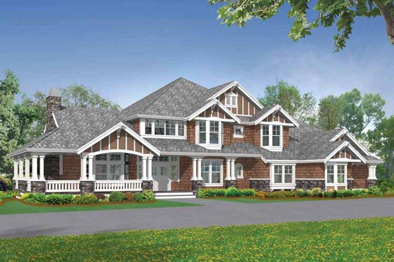 Craftsman Exterior - Front Elevation Plan #132-251 - Houseplans.com