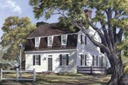 Colonial Style House Plan - 3 Beds 2.5 Baths 2047 Sq/Ft Plan #137-342 Exterior - Front Elevation