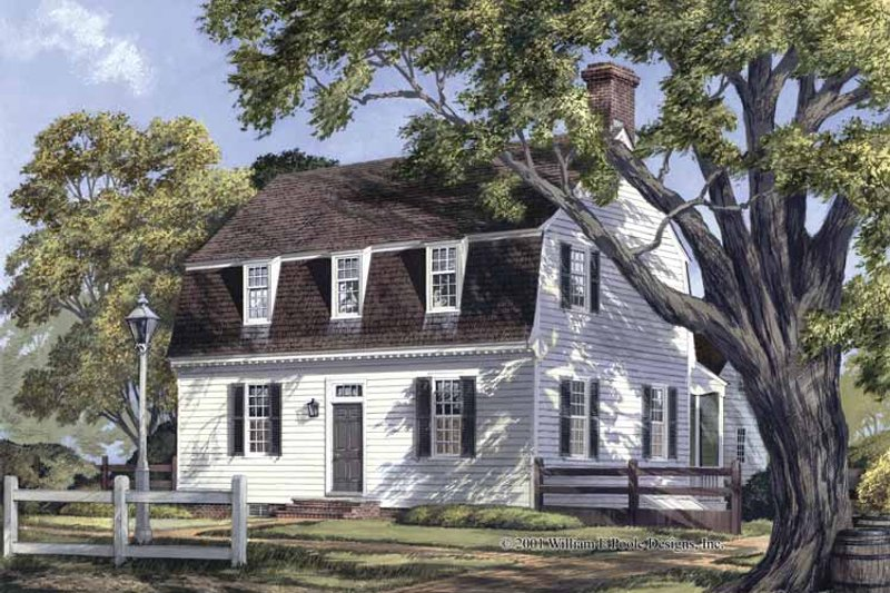 Colonial Exterior - Front Elevation Plan #137-342