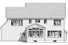 House Plan Design - Traditional Exterior - Rear Elevation Plan #316-289