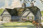 European Style House Plan - 3 Beds 2.5 Baths 3162 Sq/Ft Plan #928-103 Exterior - Front Elevation
