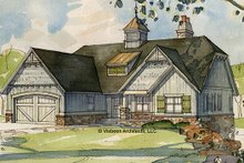 House Plan Design - European Exterior - Front Elevation Plan #928-103