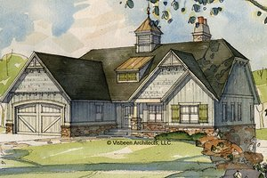 House Blueprint - European Exterior - Front Elevation Plan #928-103