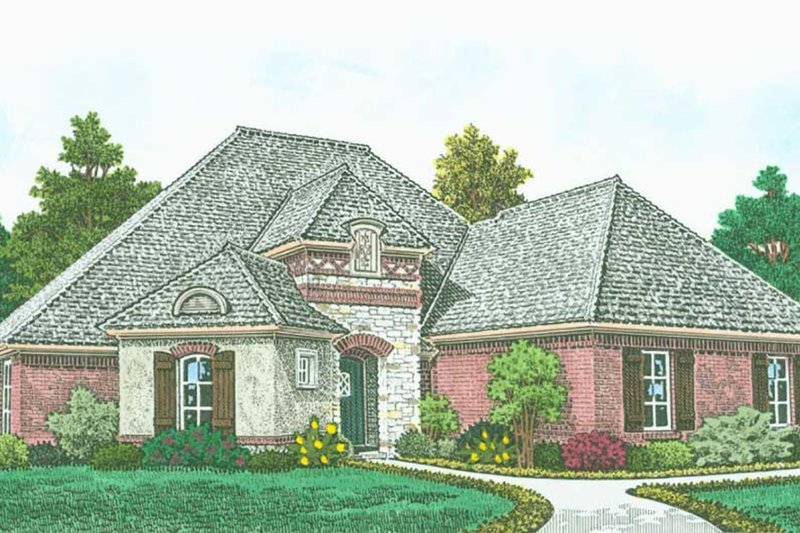Country Exterior - Front Elevation Plan #310-1316