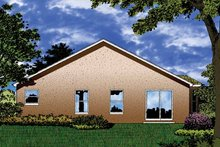 Architectural House Design - Contemporary Exterior - Rear Elevation Plan #1015-28