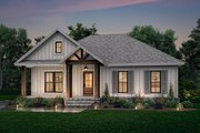 Country Style House Plan - 2 Beds 2 Baths 1301 Sq/Ft Plan #430-239
