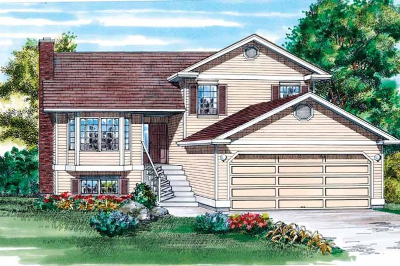 House Blueprint - Contemporary Exterior - Front Elevation Plan #47-992