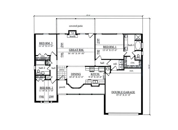 Cottage Floor Plan - Main Floor Plan Plan #42-397