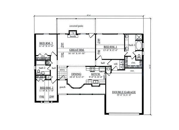 Cottage Floor Plan - Main Floor Plan #42-397