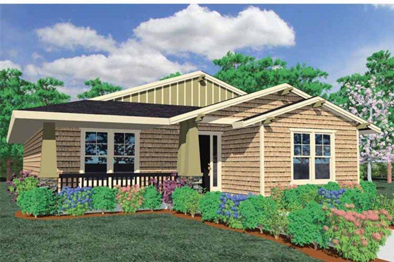 House Plan Design - Prairie Exterior - Front Elevation Plan #509-167