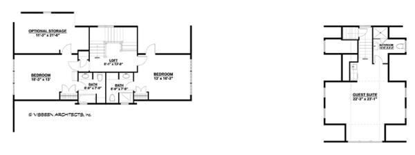 Country Floor Plan - Upper Floor Plan Plan #928-251