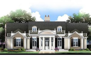Classical Exterior - Front Elevation Plan #119-158