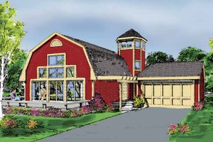 Country Exterior - Front Elevation Plan #456-86