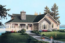 Architectural House Design - Traditional Exterior - Front Elevation Plan #57-185