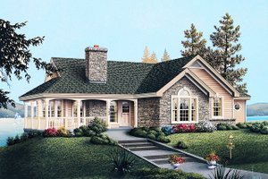 Dream House Plan - Traditional Exterior - Front Elevation Plan #57-185