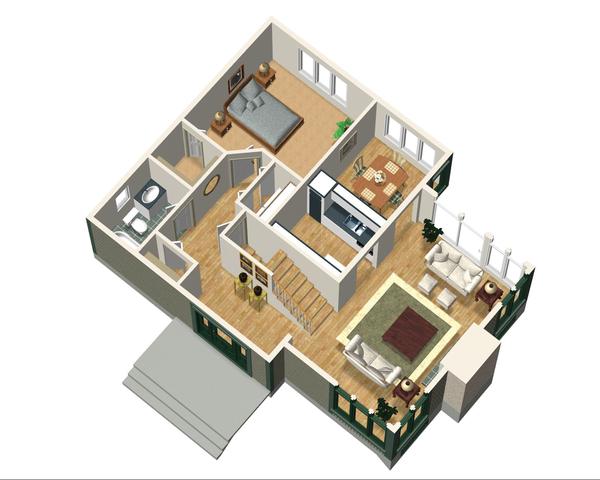 Country Floor Plan - Main Floor Plan Plan #25-4741