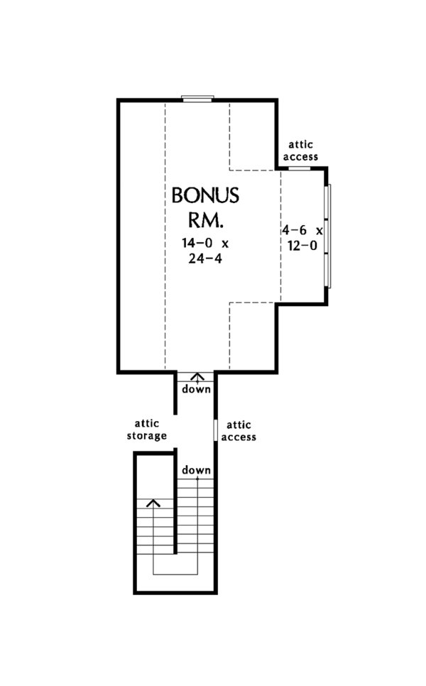 Ranch Floor Plan - Other Floor Plan Plan #929-1016