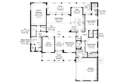 Ranch Style House Plan - 3 Beds 3.5 Baths 2900 Sq/Ft Plan #930-468 Floor Plan - Main Floor Plan