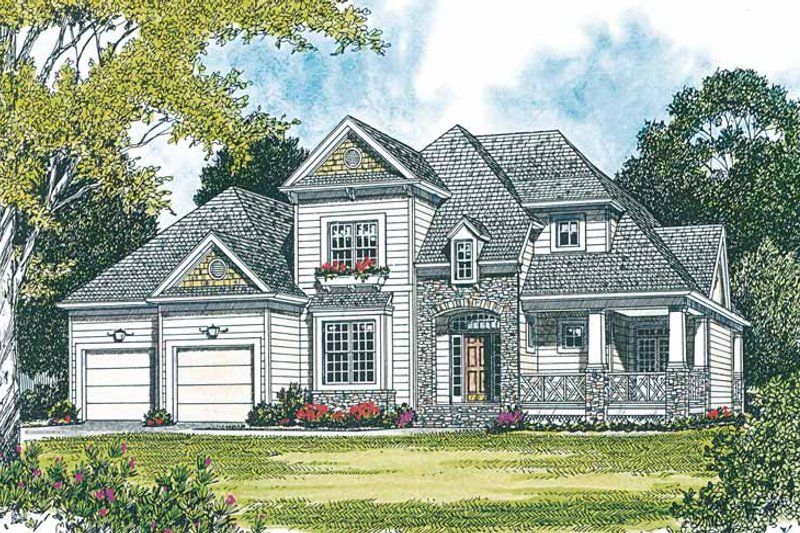 Country Exterior - Front Elevation Plan #453-217