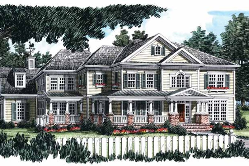 Home Plan - Classical Exterior - Front Elevation Plan #927-845