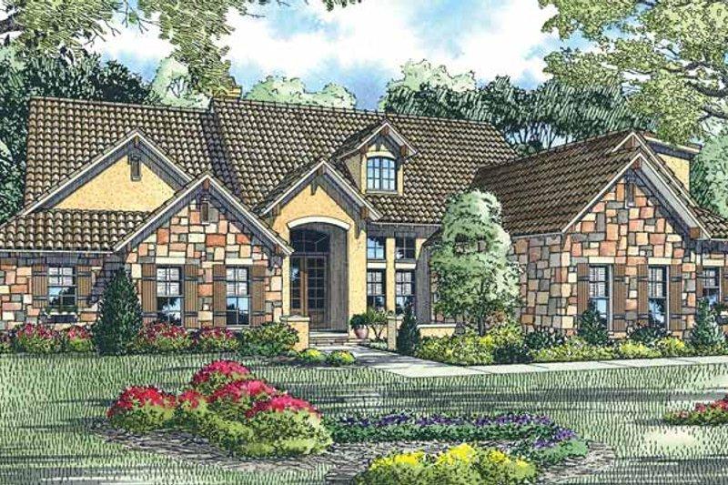Dream House Plan - European Exterior - Front Elevation Plan #17-2931