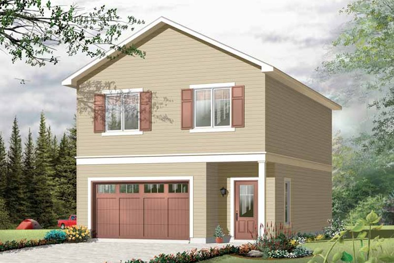 Architectural House Design - Traditional Exterior - Front Elevation Plan #23-2420