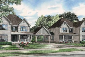 Dream House Plan - Country Exterior - Front Elevation Plan #17-2818